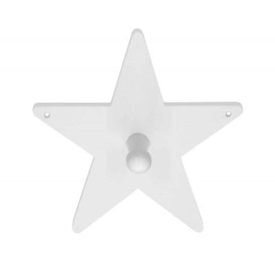 Ξύλινη μονή κρεμάστρα τοίχου - Αστέρι