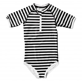 Black & White Stripes Rash Guard - Bandit