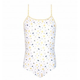 Swimsuit Scoop Back- Gold Stars