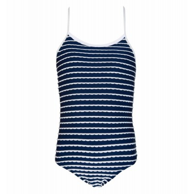 Swimsuit Strappy - Navy and white stripes