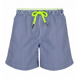 Swimshort - Navy and white stripes