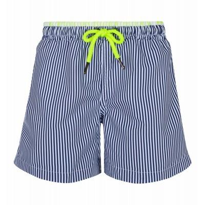 Swimshort - Navy and white stripes