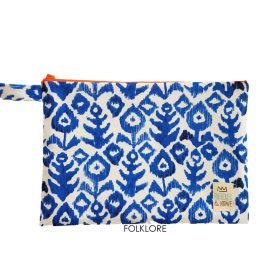 Waterproof Bag Woven - Blue Folklore
