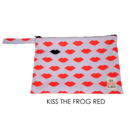 Waterproof Bag Woven - Kisses Red