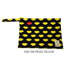 Waterproof Bag Woven - Kisses Yellow