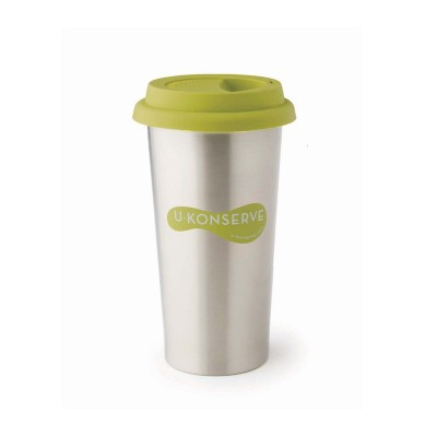 Insulated Coffee Cup - Lime