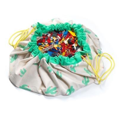 Τσάντα αποθήκευσης παιχνιδιών 2 σε 1- Cactus