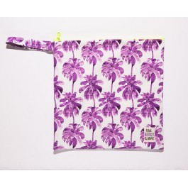 Waterproof Bag Woven - Palm Trees Purple