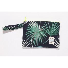 Waterproof Bag Woven - Green Leaves