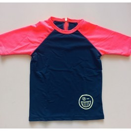 Rash Guard Bleecker - Grey and Fuschia