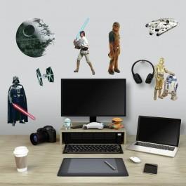 Αυτοκόλλητα Τοίχου - Star Wars Classic