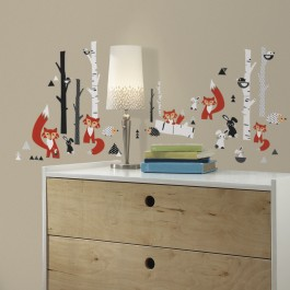 Wall Stickers - Trees and Foxes