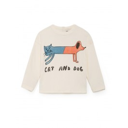 Round Neck T-Shirt - Cat and Dog