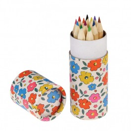 Floral Maze set of 12 coloring pencils