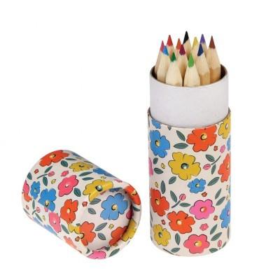Floral Maze set of 12 coloring pencils