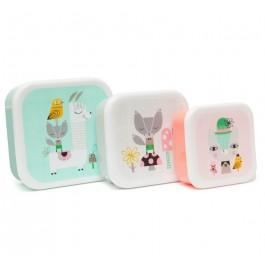 Lunchbox set Lama & Friends - Set of 3