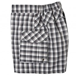 Swim Trunks Sam in grey plaid