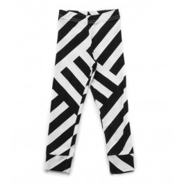 Striped Leggings - Black