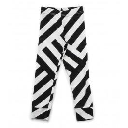 Striped Leggings - Black