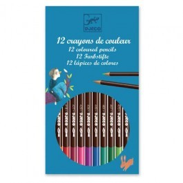 Set of 12 watercolor crayons