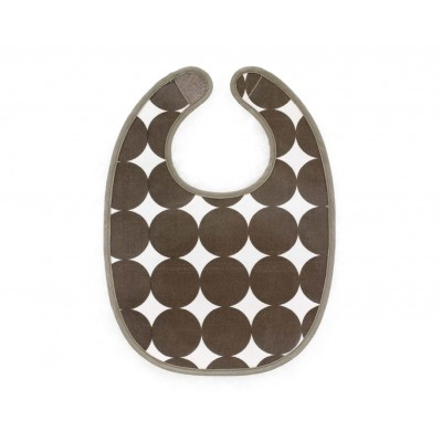 Chocolate Bib DOTS BROWN