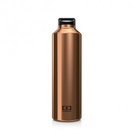 Insulated Bottle with infuser- Steel Cuivre