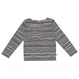 Top - Black Winter Stripes