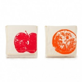 Organic Cotton Snack Pack Set - Apples & Oranges