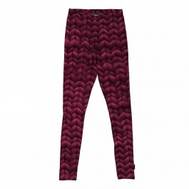Organic Leggings Twirre Burgundy Red