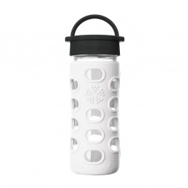 Glass Bottle Classic Cap Arctic White  - 350ml