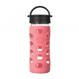 Glass Bottle Classic Cap Coral  - 350ml