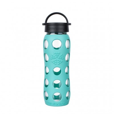 Glass Bottle Classic Cap Sea Green - 650ml