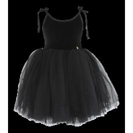 Βελούδινο Φόρεμα Tutu Sabrina - Μαύρο