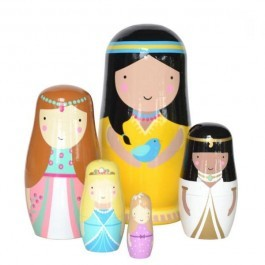 Nesting Dolls in Black and White