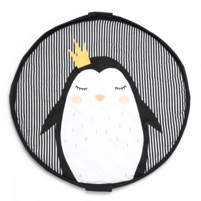 Χαλάκι και τσάντα αποθήκευσης παιχνιδιών 2 σε 1- Πιγκουίνος