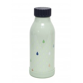 Stainless steel drinking bottle with drops print