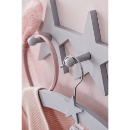 Wooden Multiboard Star Hooks - Grey color