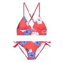 Red Tropical Vibes Trikini