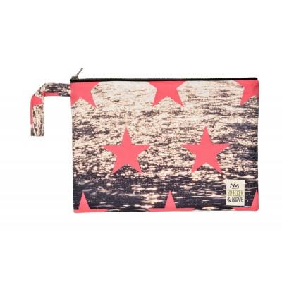 Waterproof Bag Woven - Stars Gold