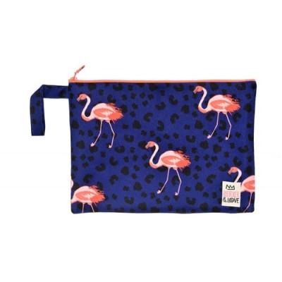 Waterproof Bag Woven - Flamingos