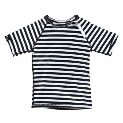 Παιδικό αντιηλιακό μπλουζάκι - Ριγέ άσπρο μαύρο