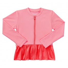 Seafolly Girls Summer Essentials Zip Front Rashie