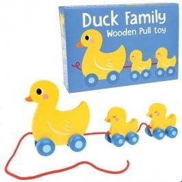 Ξύλινο Συρόμενο παιχνίδι - Duck Family