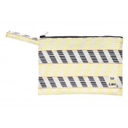Waterproof Bag Woven - Chevron Yellow