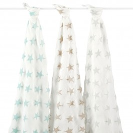 3 Set Silky Soft Swaddle - Milky Way