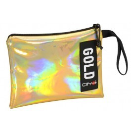 Hand Bag and Pencil Case- City Trendy - Gold Mirror