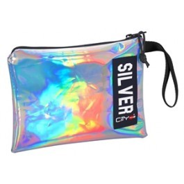 Hand Bag and Pencil Case- City Trendy - Silver Mirror