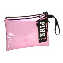 Hand Bag and Pencil Case- City Trendy - Pink Mirror