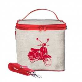 Small Cooler Bag- Red Vespa Scooter
