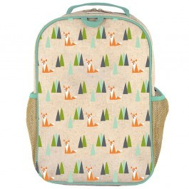 School Backpack- Olive Fox
